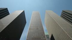 Pilvenpiirtäjä korkea toimistorakennus New Yorkissa pannulla 25p PAL liikematkaa Arkistovideo