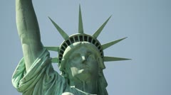 P5C1 Statue of Liberty - Tight Face with pushes and racks - Artsy Look Stock Footage
