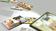 Montage 3D Images Family Home Lifestyle Stock Footage