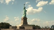 P5C7  Statue Of Liberty in NYC Stock Footage