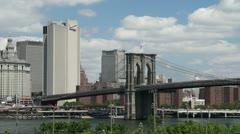 P5C16 Brooklyn Bridge as seen from Brooklyn Stock Footage