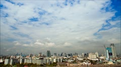 Clouds over Bangkok City Skyline Timelapse, daytime - stock footage