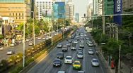 Stock Video Footage of Traffic Jam in Bangkok city during daytime, timelapse