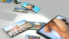 3D Panel Montage Family Beach Vacation Lifestyle Stock Footage
