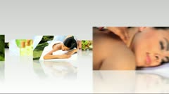 3D Montage Images Luxury Spa Treatments Stock Footage