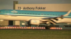 Anthony Fokker, crossing plane - stock footage