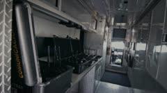 Radio on trucks Stock Footage