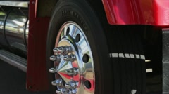 Truck view Wheel Stock Footage