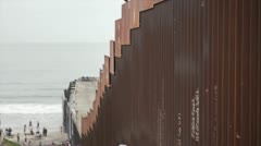 American Mexican Border wall Stock Footage