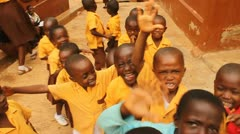 Children Playing at a School in Ghana Stock Footage