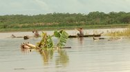 Stock Video Footage of Fisher On Amazon River, South America