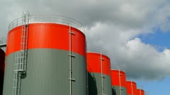Fuel storage tank time lapse - stock footage