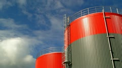 Fuel storage tank time lapse Stock Footage