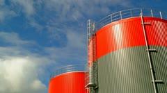Fuel storage tank time lapse - stock footage