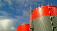 Stock Video Footage of Fuel storage tank time lapse