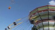 Chain carousel 01 Stock Footage