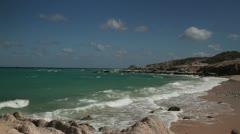 Mermaid beach baja california sur mexico Stock Footage