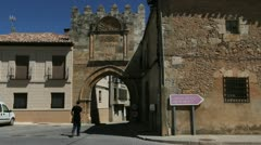 Spain Castile Berlanga de Duero gate 2 Stock Footage