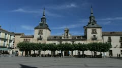 Spain Castile Burgo de Osma plaza 4 Stock Footage