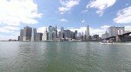 P5C29  Lower Manhattan including the Brooklyn Bridge Stock Footage
