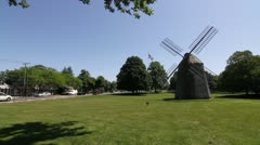 P5C35Windmill in Water Mill New York AKA The Hamptons Stock Footage