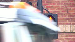 Pedestrian Crossing Sign (From Red to Green) Stock Footage