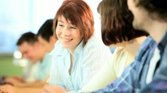 Teamwork diverse people researching information  - stock footage