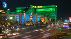 Las Vegas, time-lapse, the strip featuring the MGM Stock Footage