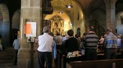 Spain La Alberca church service 3 Stock Footage