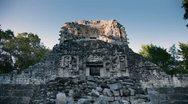Mayan ruins mexico xpujil Stock Footage