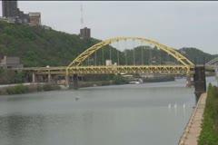 Fort Pitt Bridge Stock Footage