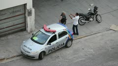 Police in Brazil Stock Footage