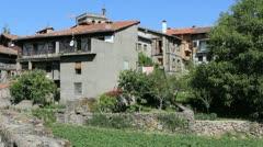 Spain La Alberca houses 4 Stock Footage