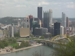 Pittsburgh Skyline Stock Footage