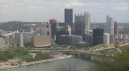 Stock Video Footage of Pittsburgh Skyline