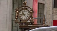 Stock Video Footage of Kaufmann's Clock and Macy's