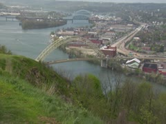 Pittsburgh scan - stock footage