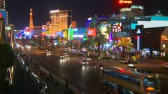 Las Vegas, traffic on the strip from two stories up, #1 Stock Footage