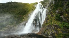 View on Lady Bowen Falls Stock Footage