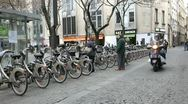 Stock Video Footage of Paris city bike rental