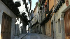 Spain La Alberca narrow street Stock Footage