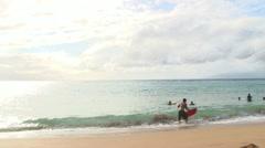 Hawaiian Surf Stock Footage