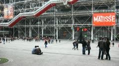 Centre Pompidou has unique architecture Stock Footage