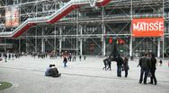 Stock Video Footage of Centre Pompidou has unique architecture