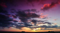 Red & Golden Sunset #1 Stock Footage