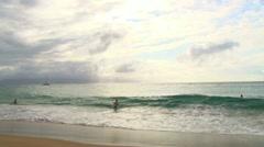 Relaxing Ocean Surf Stock Footage
