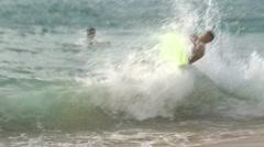 Shore Break Surfers 2 Stock Footage