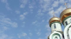 Orthodox church camera pan Stock Footage