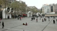 Centre Pompidou Square Stock Footage
