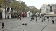 Stock Video Footage of Centre Pompidou Square